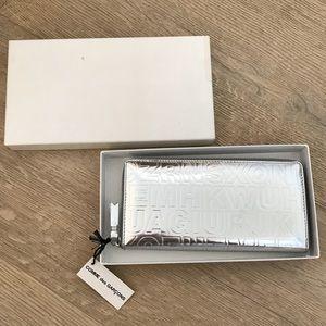CDG Silver Embossed Letter Wallet